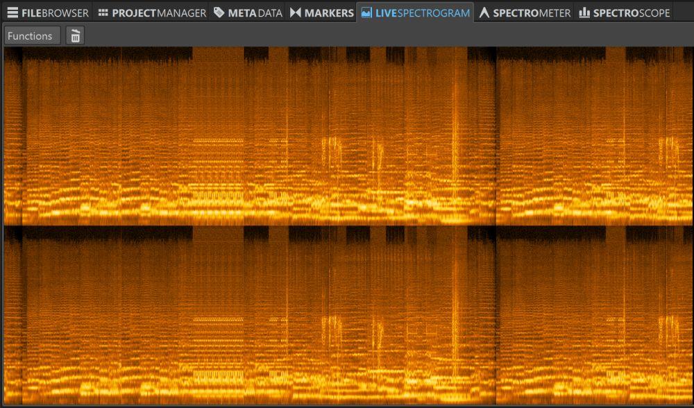 Live Spectrogranm Orange