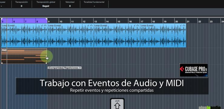 Cubase PRO 9 – Trabajo con Eventos de Audio y MIDI