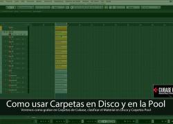 Carpetas de Cubase, Carpetas en Disco y Carpetas Pool